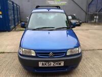 2002 Citroen Berlingo 1.6i 16v Multispace Forte 2 owners Mot Bargain