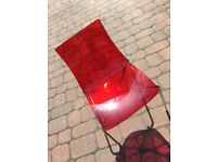 4x Red Ikea Chairs