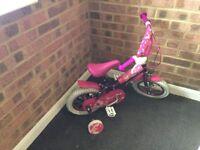 12 inch girl bike in pink