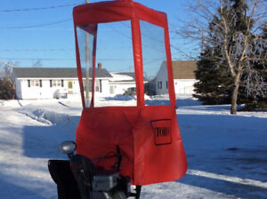 Snow cab kit with counter weight for Toro snowblower