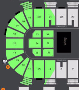 """AMAZING """"THE WIGGLES"""" FRONT ROW FLOOR CENTRAL AISLE SEATS !!!"""