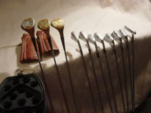 Vintage Set of Ram Clubs with Bag - Real Woods and Irons