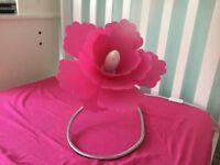 Pink Flowner Table Lamp