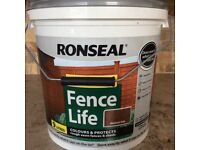 2x9 litres RONSEAL FENCE LIFE Fence Protector Medium Oak