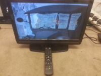 """for sale toshiba 19"""""""" hd lcd widescreen tv with dvd player + freeview remote £25"""