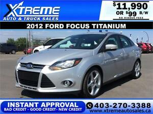 2012 FORD FOCUS TITANIUM $99 BI-WEEKLY APPLY NOW DRIVE NOW