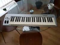 M-audio Keystation 49e USB and MIDI keyboard