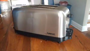Cuisinart Stainless Steel 4 Slice Toaster with 2 long & Wide
