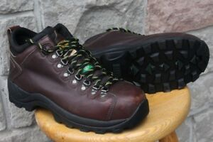 Men's leather steel toe safety Boots shoes size US 10 Dakota bra