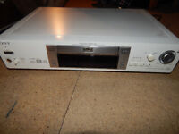 White Sony DVD/CD player