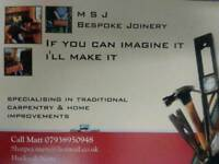 Joiner handyman carpenter MSJ bespoke joinery 07938950948