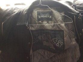 Avirex black leather jacket
