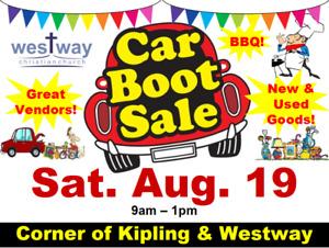 Community Car Boot Garage Sale at Westway & Kipling Sat. Aug. 19