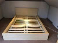 Ikea Beech European Double Bed - mattress included