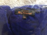 Mens Navy Blue Ben Sherman Signature Jumper Size L