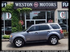 2008 Ford Escape XLT* V6* AUX* CRUISE CONTROL* A MUST SEE!!*
