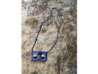 Tiny blue shoulder bag
