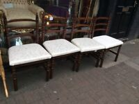 Reduced set of 4 dining chairs