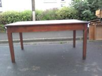 5 foot Solid Oak Table £25 Free Local Delivery. Will Last a Lifetime, Solid Wood. Legs don't remove