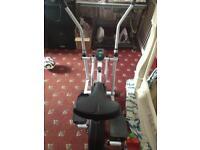 Gym master exercise bike/cross trainer combo