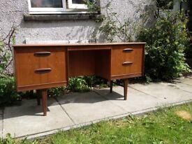 Teak Kneehole Desk/dresser Mid Century Danish Design