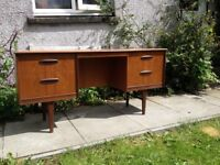 Teak Kneehole Desk/dresser Mid Century Danish Design