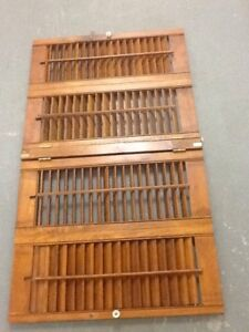 Quality solid wood(maple) California Shutters 3x4x3