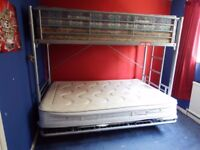 All metal convertible bunk bed