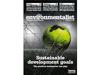 New magazines: The Environmentalist/climate change/nature