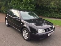 GOLF 1.6 MATCH 5 DOOR 53 REG IN BLACK WITH FULL SERVICE HISTORY INC CAMBELT CHANGE AND MOT MARCH
