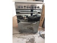 Indesit KDP60SES 60cm Wide Double Oven Dual Fuel Cooker - Stainless Steel £175 Great Condition