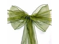 GREEN Wedding Organza Chair Sashes