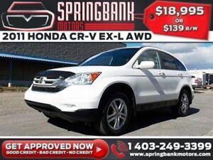 2011 Honda CR-V EX-L AWD w/Leather, Sunroof $129B/W INSTANT APPR