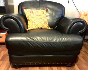 Real Leather Couch and Chair