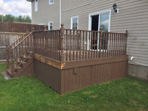 Large Deck/Patio, Railings and Steps Available