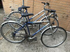 His & Hers Bikes - Giant Expressions - Good condition