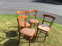 4 wooden dining chairs for sale