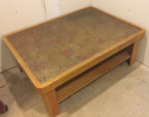 Vintage Sturdy Coffee Table - Copper Top 4'x3'