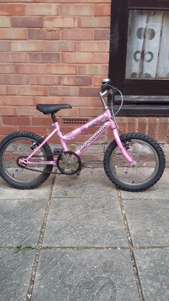 Pink girls bicycle for sale,for age 6-8