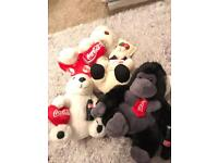 Coca-Cola teddies and Garfield