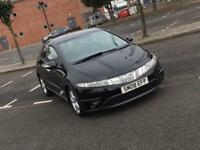 2008 Honda Civic 1.8 V-TEC Hatchback / Black LEATHER / LONG MOT