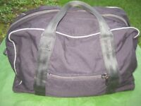 Large Black Fabric Travel Bag