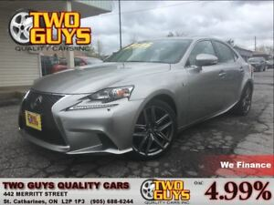 2014 Lexus IS 250 F SPORT RIOJA RED SEATS! AWD NAV ROOF
