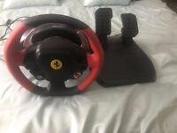 Thrustmaster Ferrari Racing wheel Xbox On plus Racing game xbox