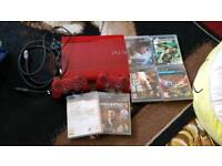 Ps3 red console with games