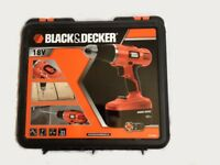 BLACK & DECKER 18V Cordless Drill Price includes case, spare battery, charger and instruction manual