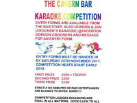 THE CAVERN BAR KARAOKE COMPETITION