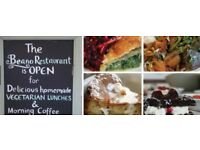 Enterprising Cook for Vegetarian/Vegan restaurant. Daytime only Thursdays, Fridays & Saturdays.