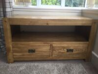 Oak sideboard/tv cabinet and nest of tables