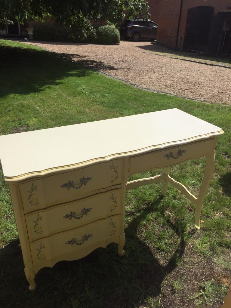 Laura Ashley style French dresssing table - hand painted